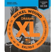 D'Addario EXL110-7 XL NICKEL WOUND Струны для 7-струнной электрогитары Regular Light 7-string 10-59