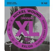 D'Addario EXL120 XL NICKEL WOUND Струны для электрогитары Super Light 9-42