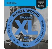 D'Addario EJ21 XL NICKEL WOUND Струны для электрогитары Jazz Light 12-52