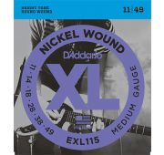 D'Addario EXL115 XL NICKEL WOUND Струны для электрогитары Blues/Jazz Rock 11-49