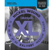 D'Addario EXL115BT Nickel Wound Комплект струн для электрогитары, Medium, 11-50