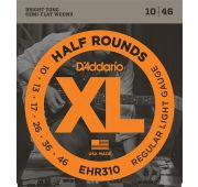 D'Addario EHR310 Half Round Комплект струн для электрогитары, Regular Light, 10-46