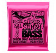 Ernie Ball 2834 струны для бас-гитары Nickel Wound Bass Super Slinky (45-65-80-100)