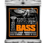 Ernie Ball 3833 струны для бас-гитары Coated Bass Hybrid Slinky (45-65-85-105)