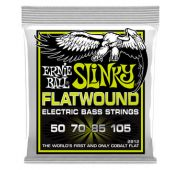 Ernie Ball 2812 струны для бас-гитары Regular Slinky Flatwound Bass (50-70-85-105)