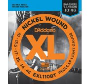 D'Addario EXL110BT Nickel Wound Комплект струн для электрогитары, Regular Light 10-46