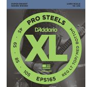 D'Addario EPS165 ProSteels Клмплект струн для бас-гитары, Custom Light, 45-105, Long Scale