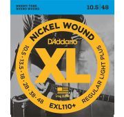 D'Addario EXL110+ NICKEL WOUND Струны для электрогитары Regular Light  Plus, 10.5-48
