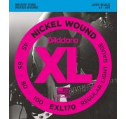 D'Addario EXL170 XL NICKEL WOUND Струны для бас-гитары Long Regular Light 45-100