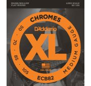D'Addario ECB82 Chromes Комплект струн для бас-гитары, Medium, 50-105, Long Scale