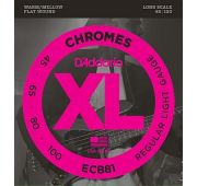 D'Addario ECB81 Chromes Комплект струн для бас-гитары, Light, 45-100, Long Scale