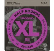 D'Addario EHR320 Half Round Комплект струн для электрогитары, Super Light, 9-42