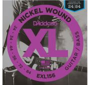 D'Addario EXL156 Nickel Wound Fender Bass VI Комплект струн для эл.гитары/6-стр. бас-гитары, 24-84 EXL156