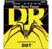 DR DDT5-55 Drop Down Tuning String струны для бас-гитары 55-135